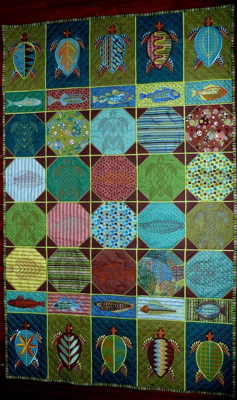 Turtle and Fish Quilt 2012