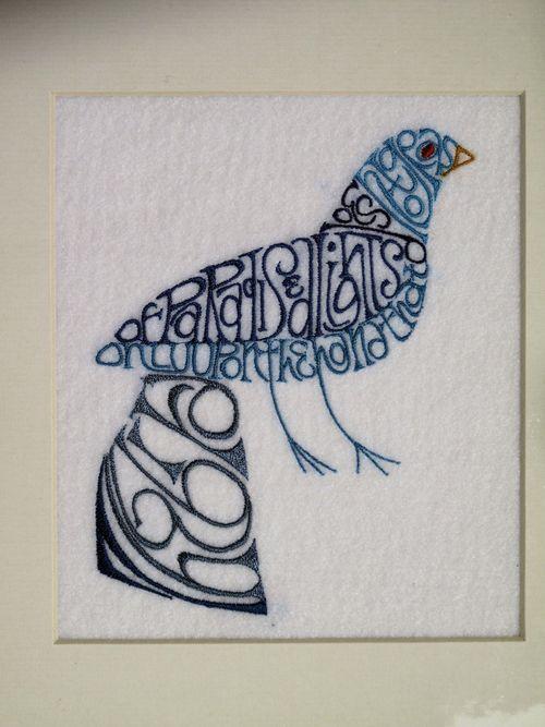 2. Calligraphic bird 2